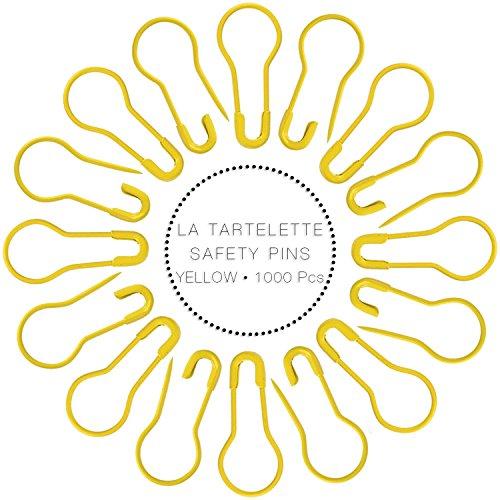 "La Tartelette 1000 Pcs 0.8"" Safety Pins/Metal Gourd Pins/Bulb Pins/Clothing Tag Pins Bulb Pin/Calabash Pin Bead Needle Pins DIY Home Accessories (Yellow)"