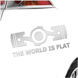 Kiwistar The World is Flat 20 x 9 cm IN 15 Farben   Neon + Chrom! Sticker Aufkleber