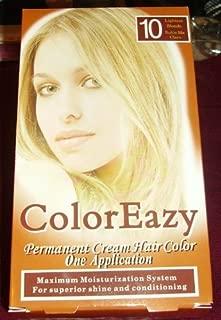 Color Eazy Permanent Cream Hair Color - Lightest Blonde by De La Ritz
