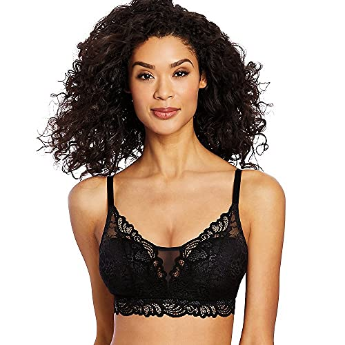 Bali Women's Lace Desire All Over Lace Wirefree Bra, -black, X LARGE