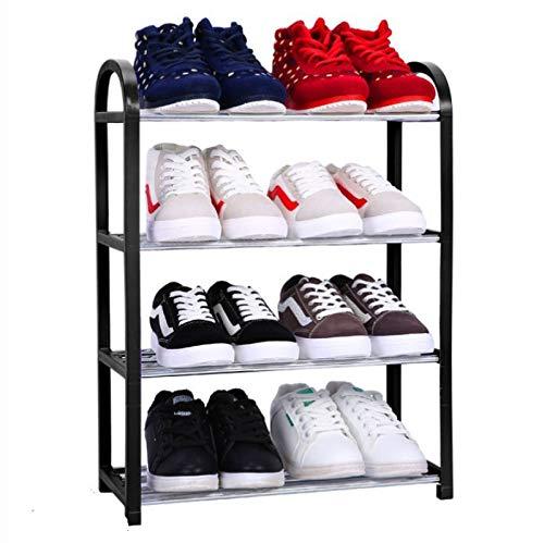 ZQJKL Plegable Organizador De Almacenamiento De Zapatos Tarea Pesada Zapatero De Metal Estante De Torre De Zapatos Multifuncional Dormitorio del Pasillo,4-Tier