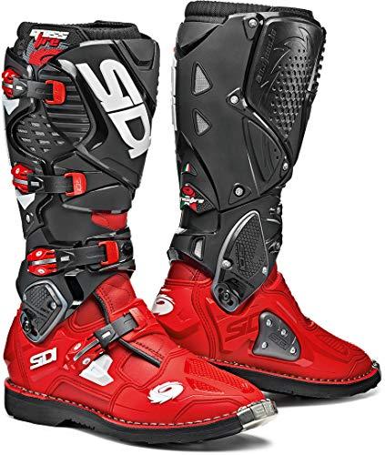 Sidi Unisex-Erwachsene Crossfire 3 red-Black 45 Motorradstiefel, Rot schwarz, Einheitsgröße