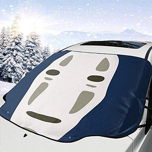 MOLLUDY Protector para Parabrisas Studio Ghibli sin Rostro Protector para Parabrisas con imán Cubierta de Parabrisas Coche Protege de Rayos Antihielo y Nieve