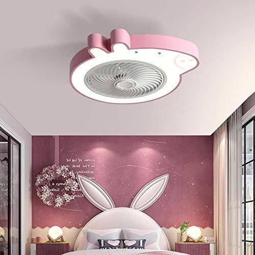Lámpara de techo inteligente para dormitorio, lámpara de ventilador, ventilador eléctrico invisible simple, restaurante, ventilador de piso bajo, lámpara-B
