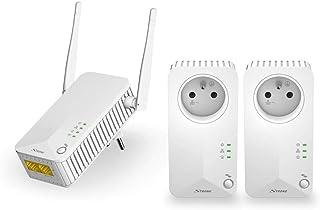 Strong CPL Wi-Fi 500Mbps, Kit di 3adattatori CPL, 2x presa estraibile integrata, LAN, Wan per fibra e ADSL, Bianco
