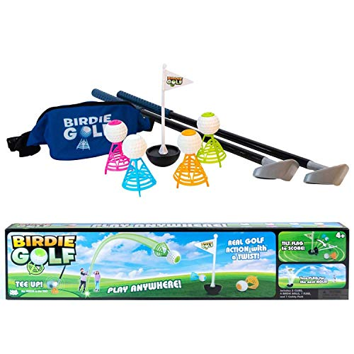Hog Wild - Birdie Golf - Outdoor Game for Family Fun in The Backyard, at The Beach, on The Lawn - Active Play for Kids, Adults and Families – Set Includes 2 Clubs, 1 Flag, 4 Birdies and 1 Caddy Pack