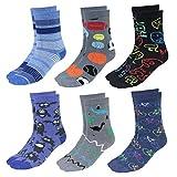 TupTam Calcetines Estampados de Colores para Niños, 6 Pares, Niño 2, 23-26