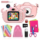 ShengRuHai Cámara de Fotos Digital para Niños,Cámara Digitale Selfie para Niños con Tarjeta de Memoria Micro SD...