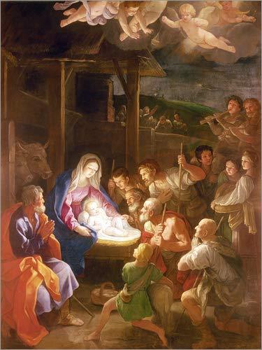 Posterlounge Cuadro de Aluminio 50 x 70 cm: The Nativity at Night de Guido Reni/Bridgeman Images