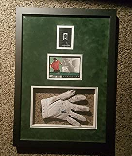 Tiger Woods AUTHENTIC Signed Autographed USED GOLF GLOVE Framed - Upper Deck Certified - Autographed Golf Gloves