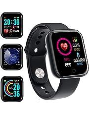 Smartwatch Orologio Fitness Uomo Donna Fitness Tracker Contapassi Calorie Cardiofrequenzimetro da polso Impermeabile IP68 Smart Watch,Notifiche Messaggi Controller Fotocamera Musicale