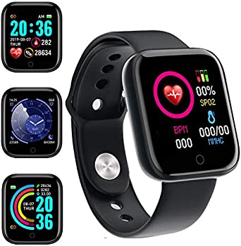 JuneyZz Fitness Tracker with Heart Rate Monitor Touch Screen Smart Watch