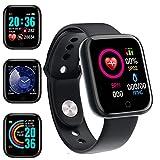 Smartwatch,Reloj Inteligente Impermeable IP65 con Monitor de Sueño Pulsómetros Cronómetros,Calorías Podómetro,Pulsera de Actividad Inteligente para Hombre Mujer niños con iPhone y Android