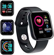 Smart Watch,1.44 Inch Fitness Tracker with HR Monitor, Sleep Tracker, Stopwatch, IP65 Waterproof Fitness Watch Works with iOS, Android for Men, Women-Black