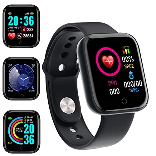 Smartwatch Uomo Donna Orologio intelligente Contapassi Calorie Cardiofrequenzimetro da polso Impermeabile IP65 Smart Watch,Notifiche Messaggi Controller Fotocamera