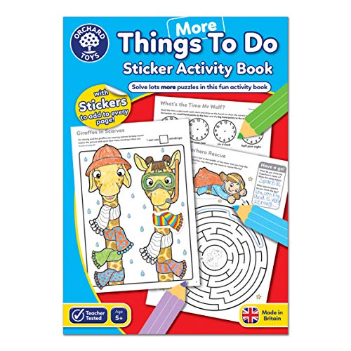 Orchard Toys More Things To Do Sticker Colouring Book - Educational Activity Book - 5 Years +, CB13