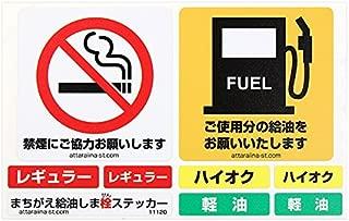 まちがえ給油しま栓ステッカー(代車、レンタカー用)「給油口ラベル+禁煙+給油依頼ステッカー」 #11120