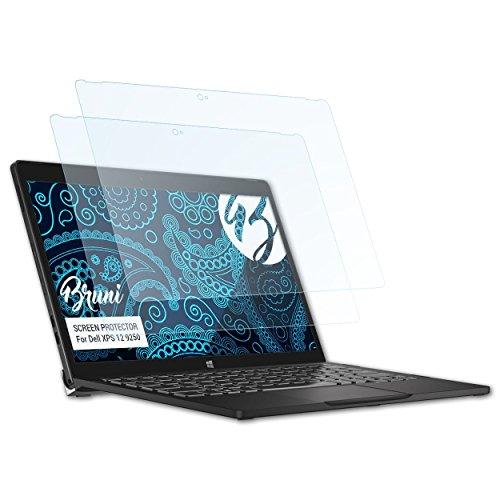 Bruni Schutzfolie kompatibel mit Dell XPS 12 9250 Folie, glasklare Bildschirmschutzfolie (2X)