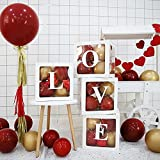 Feixing 4 unids/set fiesta fiesta decoración globo caja transparente caja de cartón regalo de Navidad