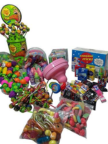 BoomBox® Süßigkeiten Mix Partybox bunte Auswahl Haribo, Chupa Chups Maoam und noch weitere tolle Naschereien (1000 gramm)