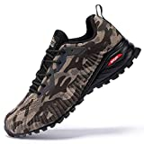 Kricely Men's Trail Running Shoes Fashion Sneakers for Men Tennis Cross Training Hiking Shoe Mens Casual Outdoor Walking Footwear Camouflage