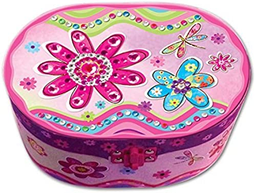 Hot Focus Flower Meadow Oval Shaped Musical Jewelry Box by Hot Focus
