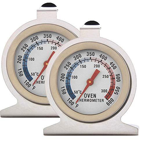 Inrigorous Backofenthermometer, Edelstahl, mit Zifferblatt, tragbar, für Lebensmittel, Kochen, Backtemperatur, 50-300 °C, Messbereich für Zuhause Küche 2 Pack Oven Thermometer