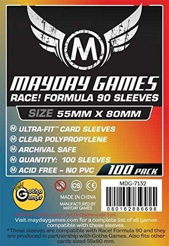 100 Mayday 55 x 80 'Race! Formula 90' Board Card Game Sleeves