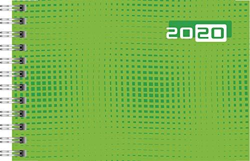 rido/idé 701710701 Taschenkalender Septimus (2 Seite = 1 Woche, 152 x 102 mm, Grafik-Einband, Kalendarium 2020) grün