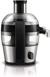 """PHILIPS Viva Compact Aluminum Juicer HR1836/05: 500W, Drip Stop, Direct Serve spout, 55 mm feeding tube.""""QuickClean"""", up t..."""