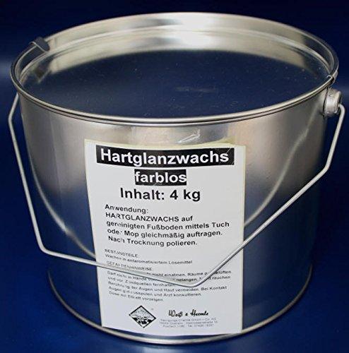 Wasserrose® 4 kg (1kg=11,74€) BOHNERWACHS HARTGLANZWACHS BODENWASCHS TRENNWACHS Weiss (FARBLOS) Made IN Germany