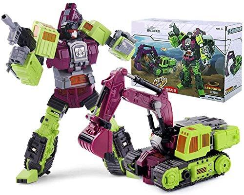 OYQQ Estatua modeloo 6 En 1 Robot De Juguete Heroes Rescue Bots Modelo De Robot De Combate Vehculo De Ingeniera Fit Robot Robots En Disfraz Combinador