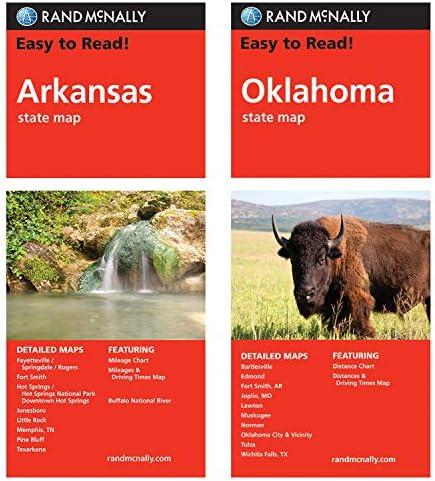 Rand McNally State Maps Arkansas and Oklahoma 2 Maps product image