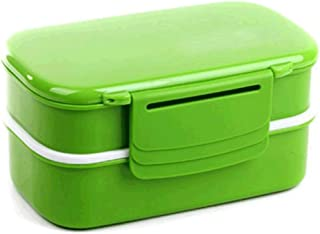 WCHCJ Adult Kids Lunch Box Set - 3 Compartments Food Meal Containers (Color : A)