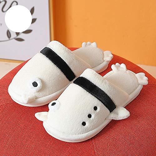 B/H Mujer Zapatillas Peluche,Zapatillas de Felpa cálidas de Invierno, Zapatillas de algodón Antideslizantes para el hogar-X_38-39,Zapatillas De Casa De