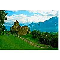 古い城の要塞の風景キャンバス壁アートポスター絵画写真壁の装飾部屋の装飾リビングルームの装飾-60x90CMフレームなし1個