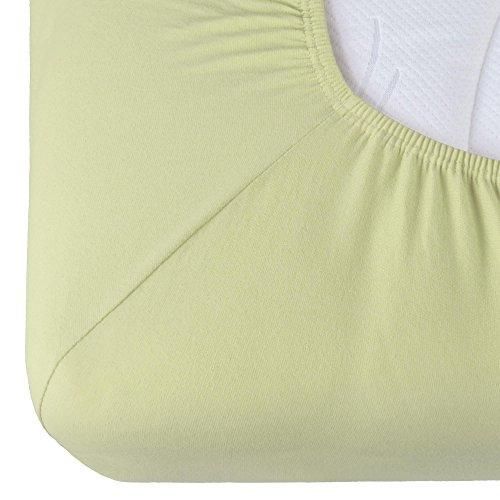 CelinaTex Relax boxspringbed waterbed hoeslaken 140x200-160x220 cm pistache groen katoen lakens hoeslaken 5001404
