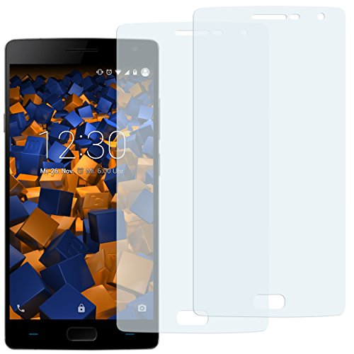 mumbi Schutzfolie kompatibel mit OnePlus 2 Folie klar, Bildschirmschutzfolie (2X)