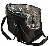 The PetVille - Bolsa de transporte para el hombro, color negro y gris