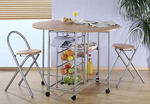 Metra Küchenbar klappbar mit 2 Stühlen
