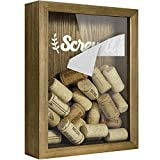 "TJ.MOREE Wine Cork Holder Shadow Box 8"" x 10"" Top Loading Shadow Box with Slot, Customizable DIY Gift Bottle Cap Holder, Rainy Day Fund Money Jar for Adults - Collection Box"