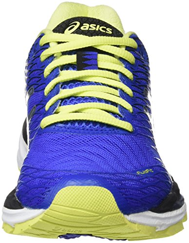 ASICS Gel-Nimbus 18 (Rio), Zapatillas de Running, Azul (Blue Purple/Silver/Sunny Lime), 35.5 EU