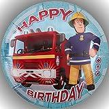 Fondant Tortenaufleger Tortenbild Geburtstag Feuerwehrmann Sam T19