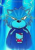 2020-2021: Petite Agenda Scolaire 2020-2021 / Une page par jour / Planificateur Académique / Chat en colère portant un pull Hello Kitty