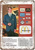 McDonald's Uniform Catalog - Cartel de metal para decoración de pared, diseño retro