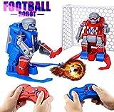 Julai Soccer Robots for Kids, ER10 Kids Toys Set with 2 Goals Gift Football 2.4G RC Robot Set Soccer Ball Robot LED Eyes,Indoor Outdoor Fun Sport Ball Games for Boys and Girls.