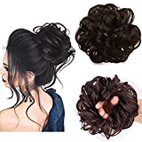 Messy Bun Hair Piece Thick Updo Scrunchies Synthetic Hair Extensions Ponytail Hair Wig Hairpiece Dark Brown