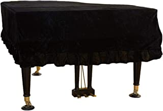 Mitef Classic Pleuche Universal Grand Piano Cover Decorative Piano Cover, Black,Size:150cm/59.0inches