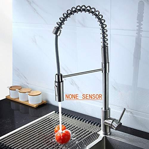 JYHW Fregadero de cocina inteligente Grifo con sensor táctil automático Saque el grifo de resorte Mezclador de agua fría y caliente Sensor Grúa Grifos inductivos sensibles CHINA sin sensor