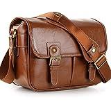 Koolertron Waterproof Vintage Fashionable PU Leather DSLR Camera Bag...